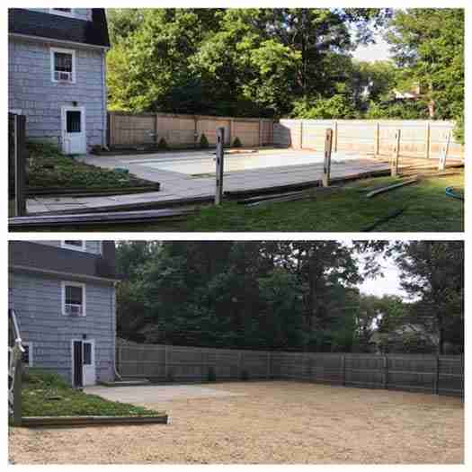 In ground swimming pool removal in Harwinton, CT
