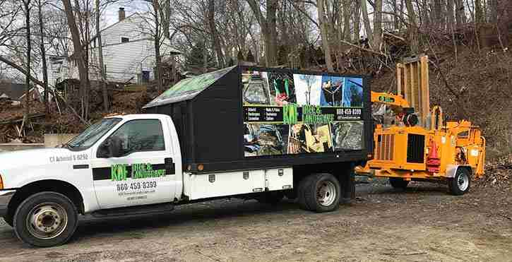 KDF Tree & Landscape truck and chipper