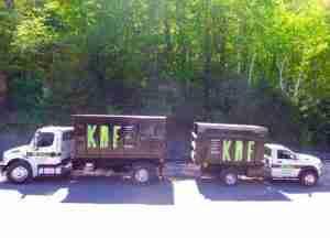 KDF Tree dumpster trucks
