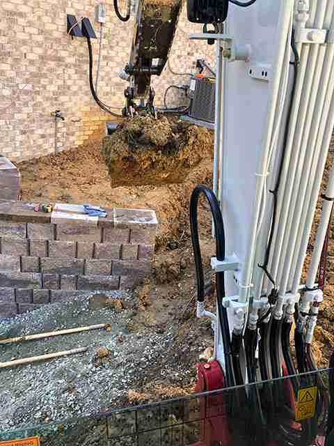 Excavation of back yard