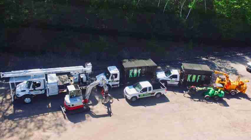 KDF equipment lineup from drone
