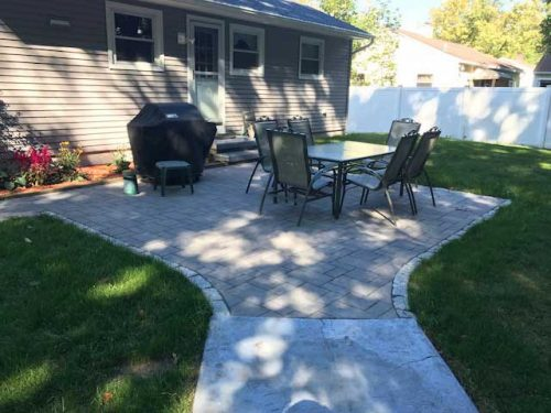 Hardscaping backyard patios